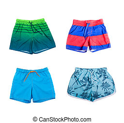 Collage of different shorts for boys