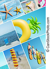 collage of different summer items and scenes