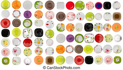 collage of dinner plates