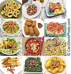 Collage of dishes cooked
