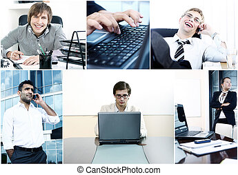 Collage of diverse business people