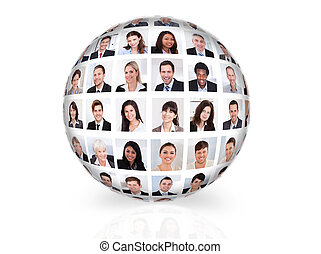 Collage Of Diverse Business People - Collage of diverse...