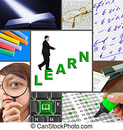 Collage of education images