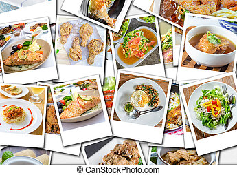 collage of food