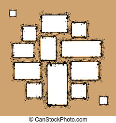 Collage of frames for your design