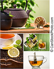 Collage of healthy green tea no. 2