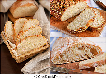 Collage of homemade bread