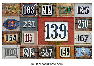 House numbers 100