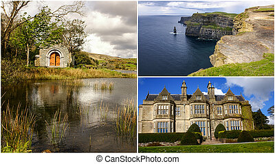 Collage of Ireland images