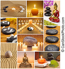 Collage of japanese zen garden