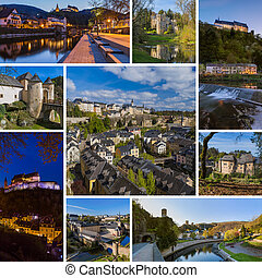 Collage of Luxembourg travel images (my photos)