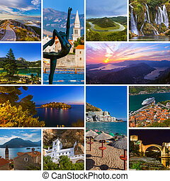 Collage of Montenegro travel images (my photos)