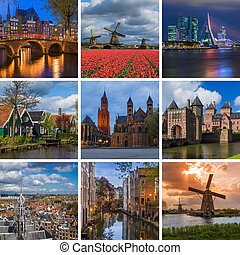 Collage of Netherlands travel images (my photos)