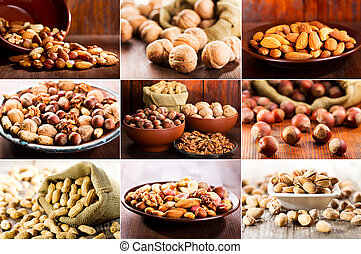 collage of nuts