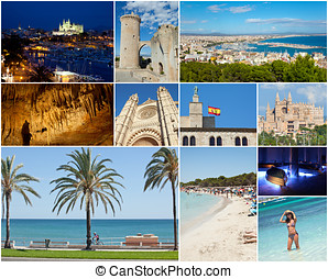 Collage of Palma De Mallorca