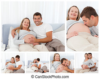 Collage of parents to be