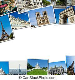 Collage of paris photos collection