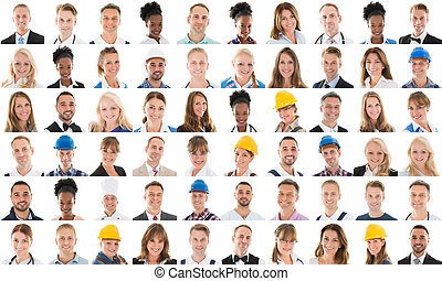 Collage Of People With Different Profession - Collage Of...