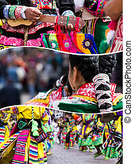 Collage of Peru traditional culture images - travel...