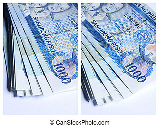 collage of philippines peso