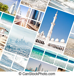 photos from Dubai and Abu Dhabi - Collage of photos from...