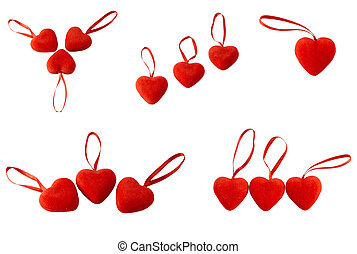 Hearts with lock