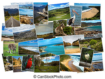 Collage of pictures from Australia