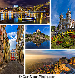 Collage of Portugal travel images (my photos)