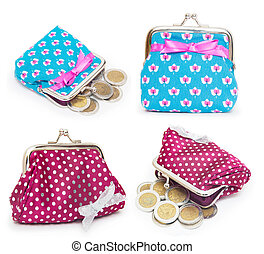 collage of purses