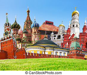 collage of Red Square