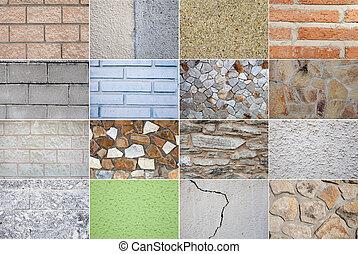 Collage of revetmen for construction