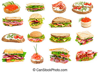 Collage of sandwiches