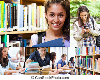 Collage of smiling students