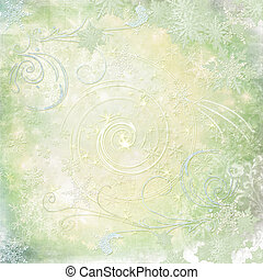 collage of snowflakes - Christmas card with snowflakes and...