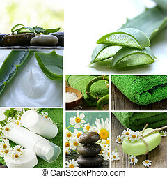 collage of spa concept