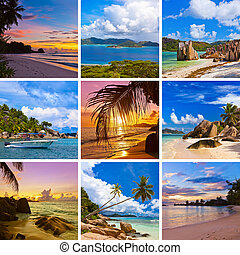 Collage of summer beach images