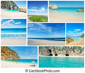 collage of summer Sardinia images
