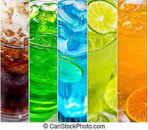 collage of sweet water or cocktails