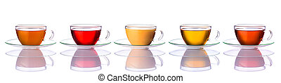 Collage of Tea Cups