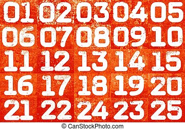 Collage of textural numbers