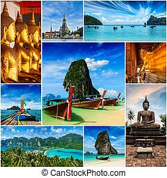 Collage of Thailand images