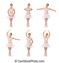 Collage of the positions of classical ballet