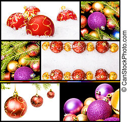 collage of various christmas decorations