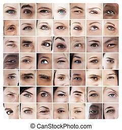 Collage of various eyes