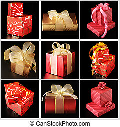Collage of various gifts