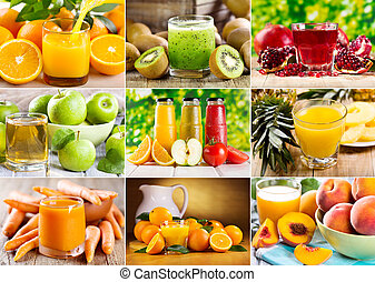 various juice - collage of various juice