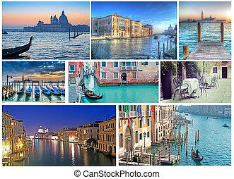 collage of Venice photos