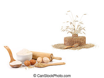 Collage of wheat products.