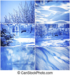 collage of winter cards