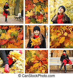 Collage of women in the Autumn
